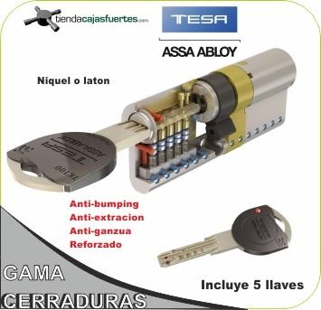 Comprar cilindro tk100 tesa antibumping marca al mejor for Cerraduras tesa anti bumping
