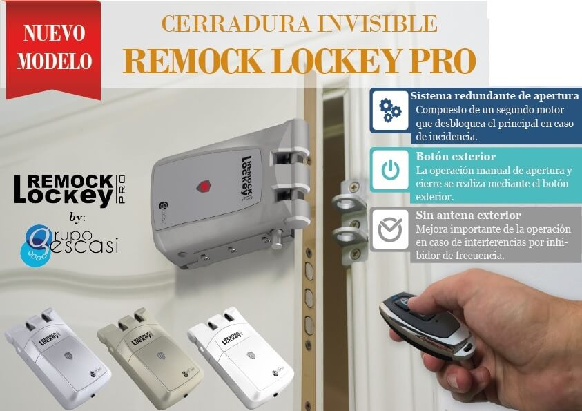 Cerradura electr nica remock lockey tienda online de for Cerradura invisible remock lockey