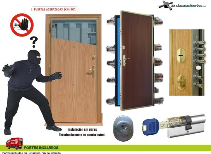 bombin para puerta acorazada